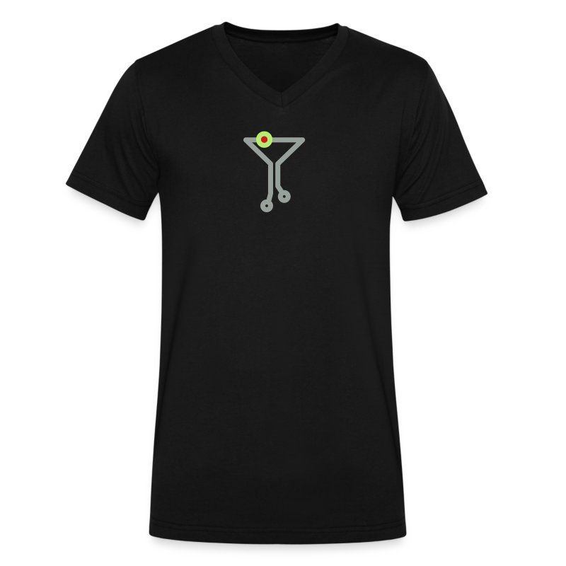 Tech Cocktail V-Nect Tee - Men's - Men's V-Neck T-Shirt by Canvas