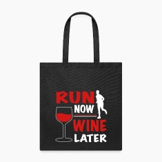 Run Now Wine Later Bags & backpacks