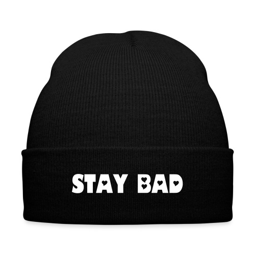 Stay Bad Knit Cap - Knit Cap with Cuff Print