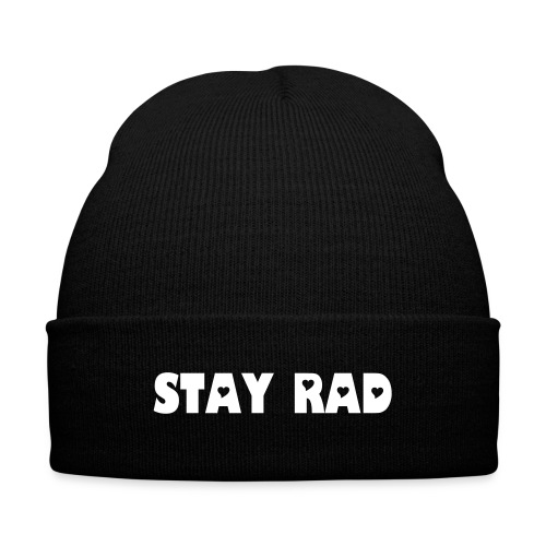 Stay Rad Knit Cap - Knit Cap with Cuff Print
