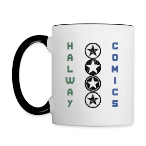 Halway Comics Mug Blue/Green - Contrast Coffee Mug