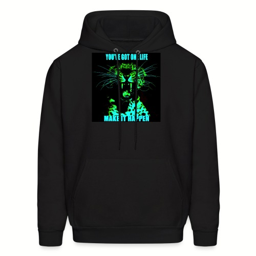 Green Leopard Make It Happen - Men's Hoodie