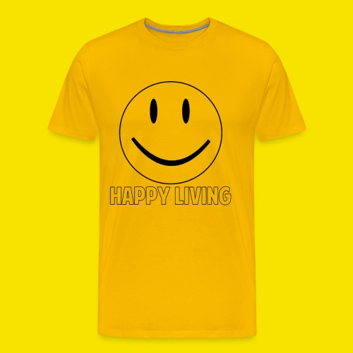 Happy Living Outline - Men's Premium T-Shirt