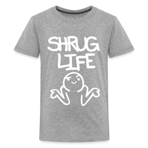 Kids' Premium Shrug Life Tee - Inverted - Kids' Premium T-Shirt