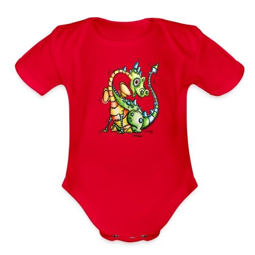 Aubert le dragon - Organic Short Sleeve Baby Bodysuit