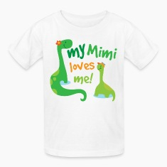 My Mimi Loves Me dinosaur Kids' Shirts