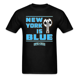 NY is BLUE - Men's T-Shirt, Black - Men's T-Shirt