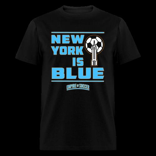 NY is BLUE - Men's T-Shirt, Black - Men's T-Shirt