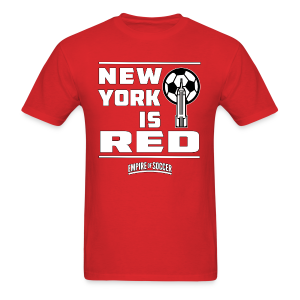 NY is RED - Men's T-Shirt, Red - Men's T-Shirt