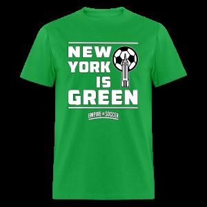 NY is GREEN - Men's T-Shirt, Green - Men's T-Shirt