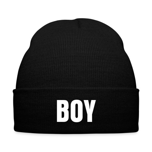 Boy Swag Cap - Knit Cap with Cuff Print