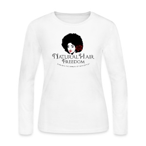 Natural Hair Freedom Long Sleeved Women Shirt - Women's Long Sleeve Jersey T-Shirt