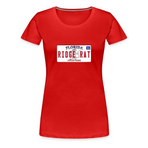 Orginal Rat License Plate - Front Design - Womens Premium - Women's Premium T-Shirt