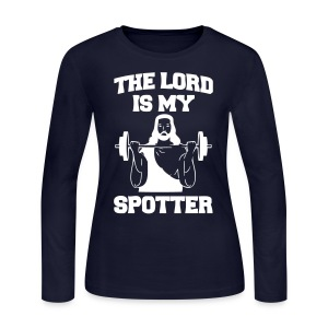 Lord Is My Spotter (female) - Women's Long Sleeve Jersey T-Shirt