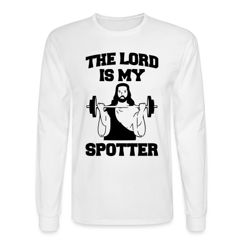Lord Is My Spotter - Men's Long Sleeve T-Shirt