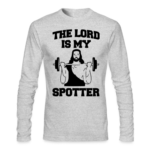Lord Is My Spotter - Men's Long Sleeve T-Shirt by Next Level