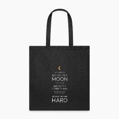 JFK Moon Quote Bags & backpacks