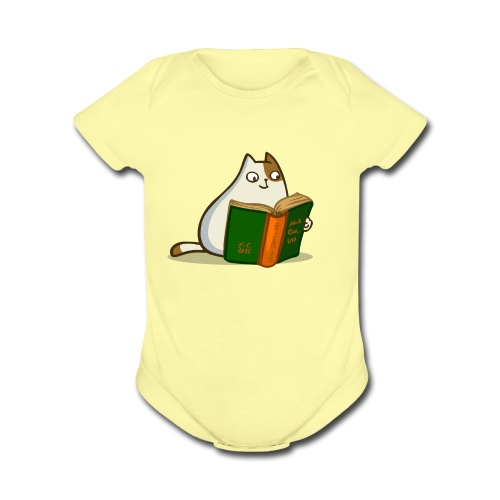 Friday Cat №19 - Organic Short Sleeve Baby Bodysuit