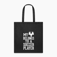 MY HEART BELONGS TO A SOCCER PLAYER Bags & backpacks