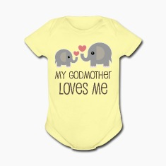 My Godmother Loves Me elephant Baby & Toddler Shirts