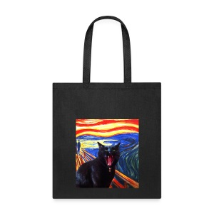 Scream Kitty Canvas Tote - Tote Bag