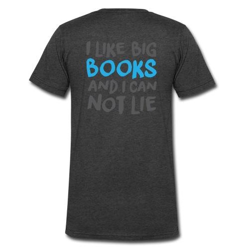 I Like Big Books - TShirt - Men's V-Neck T-Shirt by Canvas