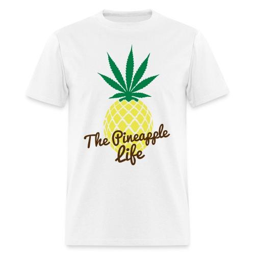Limited Edition Men's White Pineapple Life Crew - Men's T-Shirt