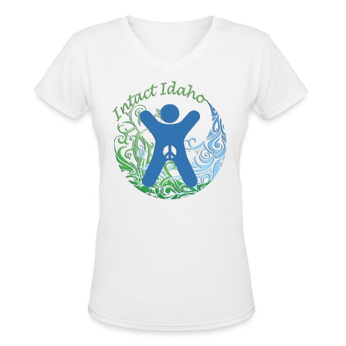 Intact Idaho - Women's V-Neck T-Shirt