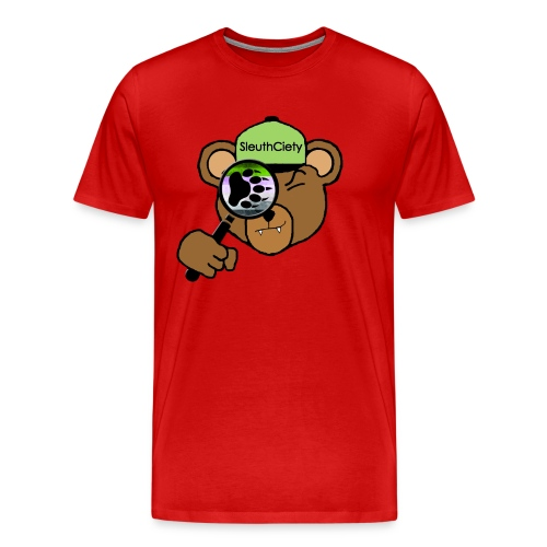 Sleuth Premium Brown Bear Tee - Men's Premium T-Shirt