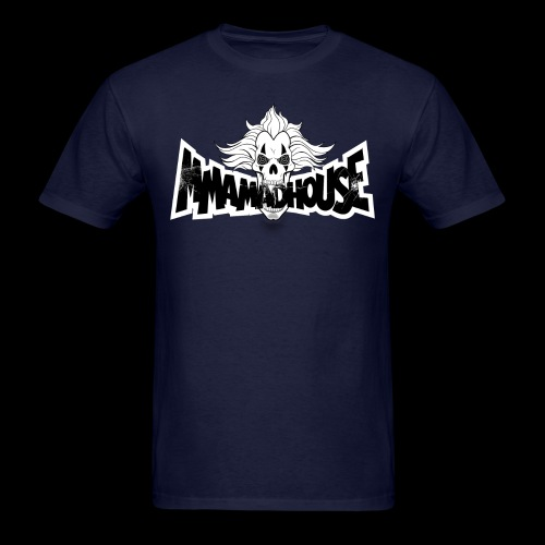 MMAmadhouse (Front) Support Local MMA (Back) - Men's T-Shirt