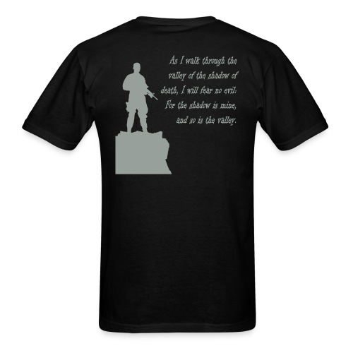 Black Walk Through The Valley - Men's T-Shirt