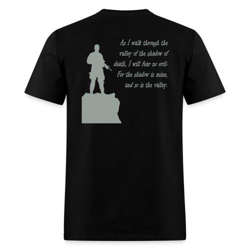 Black Walk Through The Valley - Men's T-Shirt