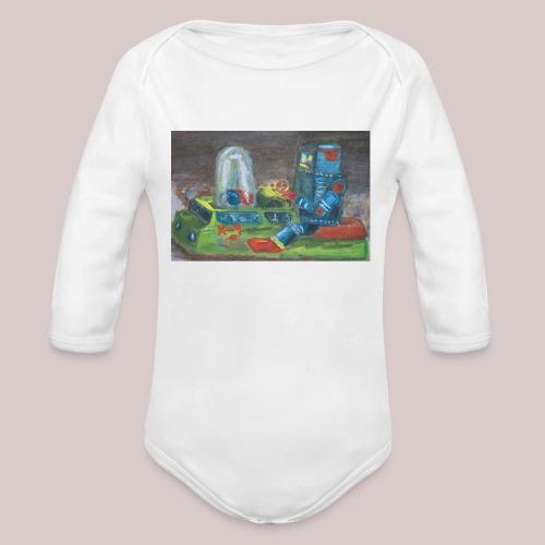 Popomatic-bot One Piece  - Organic Long Sleeve Baby Bodysuit
