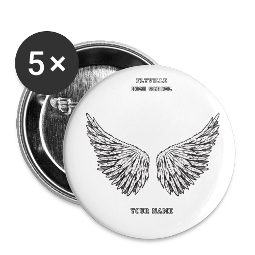Acessories: Flyville High School Big Buttons - Buttons large 2.2'' (5-pack)