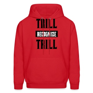Trill Recognize Trill Black Red Hoodie  - Men's Hoodie