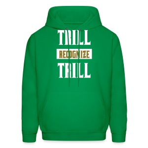 Trill Recognize Trill White & Gold  - Men's Hoodie