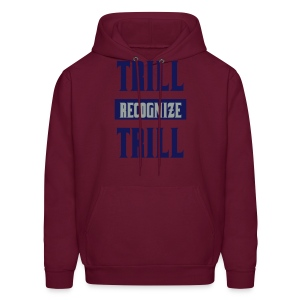 Trill Recognize Trill Blue and Silver  - Men's Hoodie
