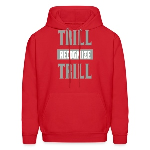 Trill Recognize Trill Silver Red hoodie  - Men's Hoodie