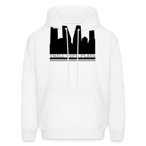 Trill Type Playa Hoodie Black & Silver On White  - Men's Hoodie