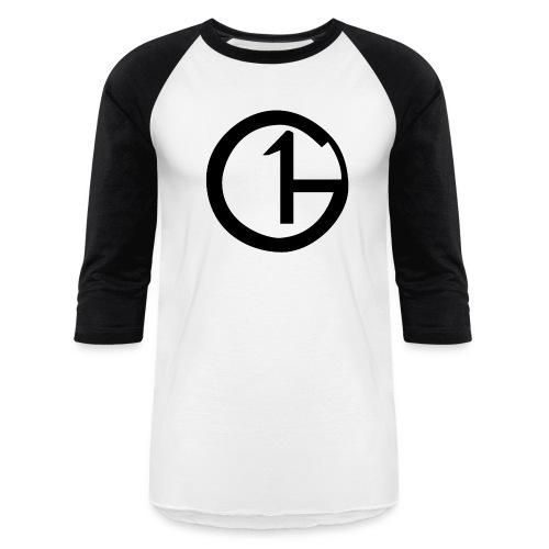 Black & White (Black Logo) (Men's Baseball-Tee) - Baseball T-Shirt