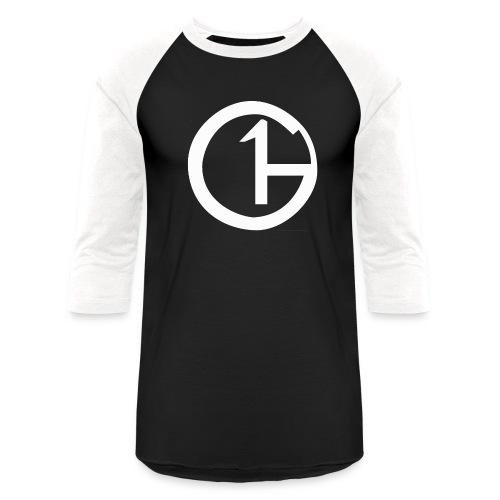 Black & White (White Logo) (Men's Baseball-Tee) - Baseball T-Shirt