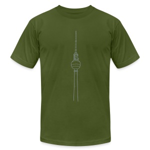 Berlin TV Tower  - Men's T-Shirt by American Apparel