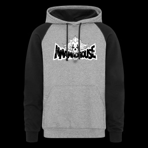 MMAmadhouse (Front) Support Local MMA (Back) - Colorblock Hoodie