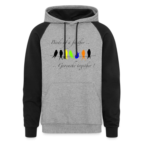 GeoBirds - M Colorblock Hoodie - Colorblock Hoodie