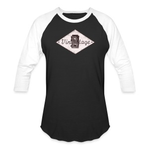 Vintage Camera 3/4 length sleeve - Baseball T-Shirt