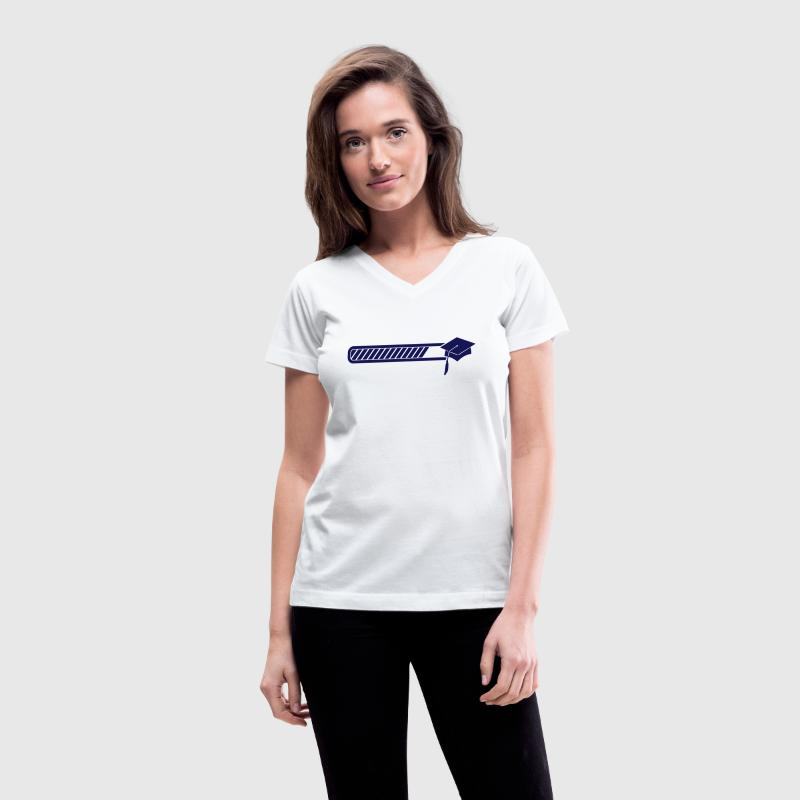 graduation loading Women's T-Shirts - Women's V-Neck T-Shirt