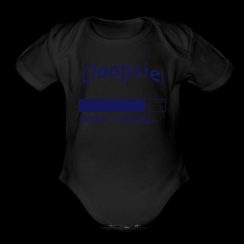 Baby Short Sleeve B Diaper Loading - Organic Short Sleeve Baby Bodysuit