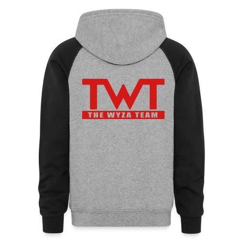TWT Red Logo Hoodie - Colorblock Hoodie