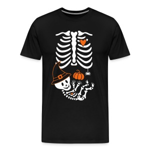 Skelly Baby with Witch Hat - Men's Premium T-Shirt