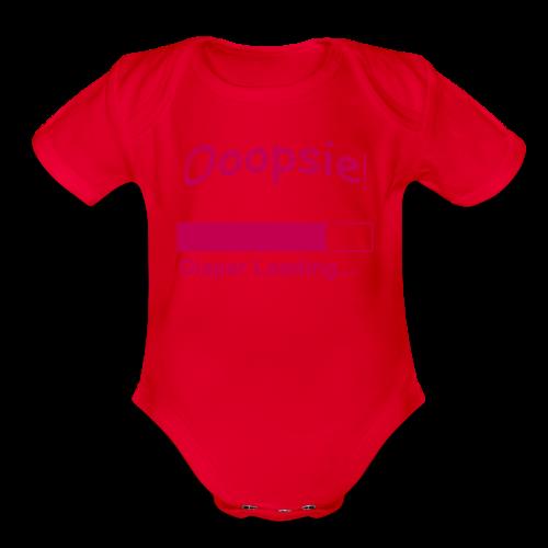 Baby Short Sleeve G Diaper Loading - Organic Short Sleeve Baby Bodysuit